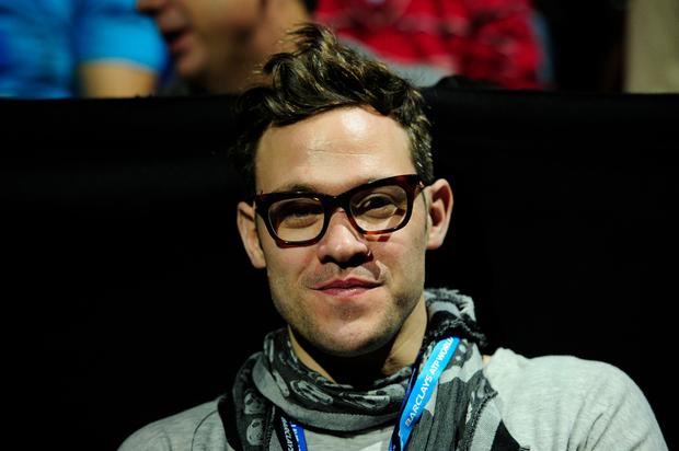 British singer-songwriter and actor Will Young watches Serbia's Novak Djokovic take on Argentina's Juan Martin Del Potro in their semi-final singles match on the seventh day of the ATP World Tour Finals tennis tournament in London on November 11, 2012. GLYN KIRK/AFP/Getty Images