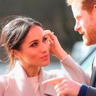 Prince Harry and Meghan Markle visit the Eikon Centre and attend an event to mark the second year of the youth-led peace-building initiative 'Amazing the Space' on March 23, 2018 in Lisburn, Nothern Ireland. (Photo by Chris Jackson/Getty Images)