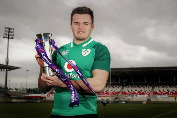 Jacob Stockdale has been named Six Nations Player of the Tournament