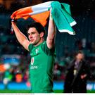 Joey Carbery of Ireland celebrates