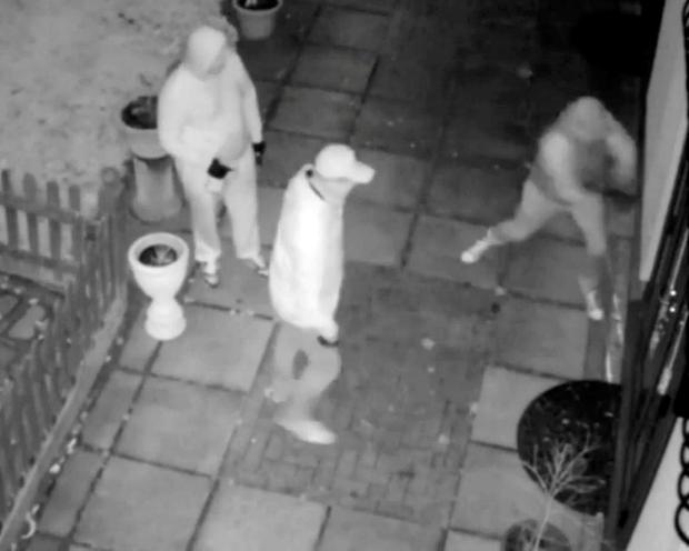 Three of the four men who were wielding crowbars and hammers to force their way into a house in Chislehurst Metropolitan Police/PA Wire