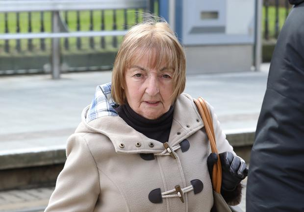 Catherine Gallagher pictured leaving the Four Courts yesterdayafter she was unsuccessful in her High Court action for damages Pic: Collins Courts