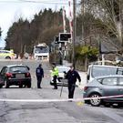 The scene of the fatal accident involving two women who lost their lives on the Station Road (R358) in Ballinasloe, Galway Pic Steve Humphreys