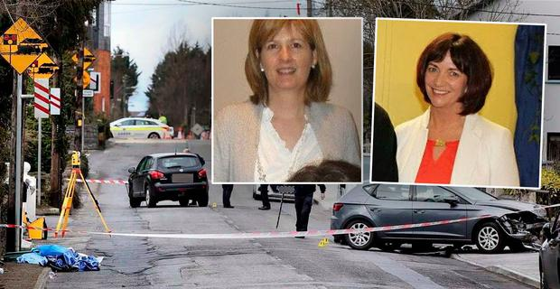 Pictured: Mothers and lifelong friends Deirdre Kilmartin (inset left) and Maureen Dooley (inset right) lost their lives in horror crash in Ballinasloe