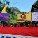 Pro-abortion protesters march in Asuncion, Paraguay, where abortion is illegal AFP/Getty