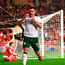 Scott Hogan of Ireland reacts after a missed chance