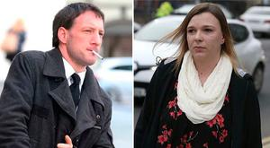 John Tighe (pictured left) has been found guilty of murdering his infant son. Right: Mother of six-and-a-half-month old Joshua Sussbier Tighe