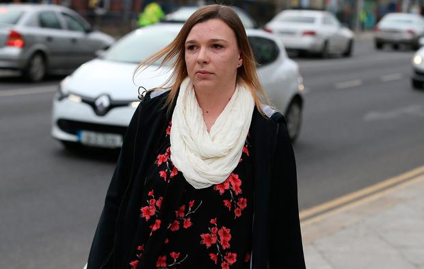 Natasha Sussbier pictured leaving court following the sentence hearing of John Tighe (40) of Lavallyroe, Ballyhaunis, Co Mayo, who was found guilty of the murder of his six-and-a-half month old son, Joshua Sussbier Tighe, at his home on June 1, 2013.Pic Collins Courts