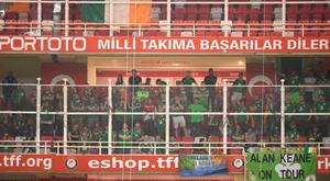 Ireland fans were held behind imposing fences in Turkey