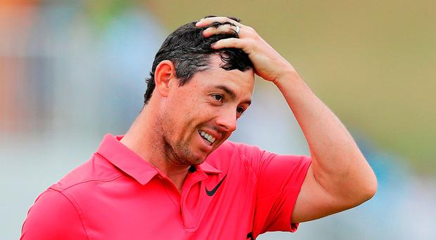 Rory McIlroy had a nightmarish start to his round Friday