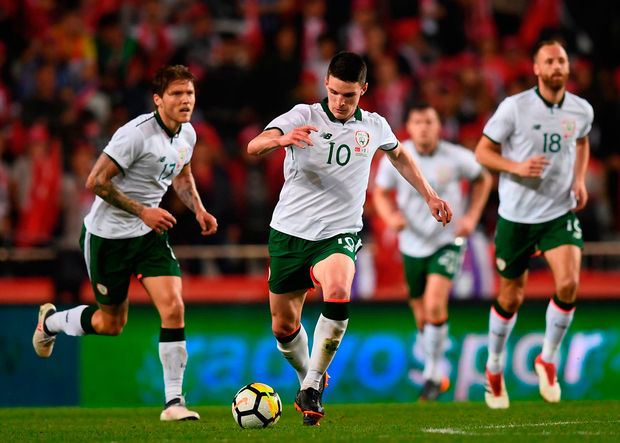 BRIGHT FUTURE: The Republic of Ireland's Declan Rice in action against Turkey at Antalya Stadium last night. Photo by Stephen McCarthy/Sportsfile