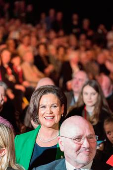 New Sinn Féin president Mary Lou McDonald at a party conference in February. Photo: APF
