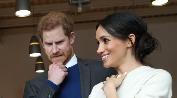 Prince Harry and Meghan Markle freaked out by fake Game of Thrones foot in Belfast