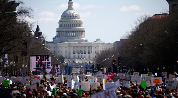 March for Our Lives: Hundreds of thousands gather worldwide to protest US gun violence