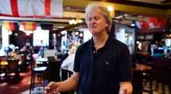 Wetherspoon founder Tim Martin has not been able to strike deals with the likes of Guinness and C&C so cut-price pints are imported. Photo: Ben Stansall/AFP/Getty Images