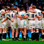 England players gather together in a huddle after being beaten by Ireland in Twickenham last week. Photo: PA