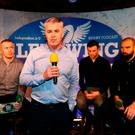 WING WONDERS: David Courtney, INM Head of Sport, at a Left Wing podcast with Will Slattery, Robbie Henshaw and Scott Fardy at Kennedy's on Westland Row Pic: Frank McGrath