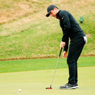 Rory McIlroy putts during the WGC Match Play in Texas, only time will tell if his putting inconsistencies have been rectified in time for Augusta. Photo: Getty Images