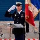 TRIBUTE: Lt Col Arnaud Beltrame. Photo: AFP Photo