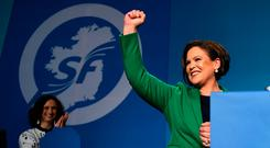 """New SF leader Mary Lou McDonald who signed off her inaugural leader's speech with the slogan """"Tiocfaidh ar la"""" refuses to break from the past, criticising Miriam O'Callaghan's 2011 TV debate with Martin McGuinness"""