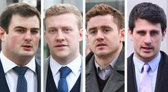 Rory Harrison, Stuart Olding, Paddy Jackson and Blane McIlroy were cleared of the charges in a Belfast court