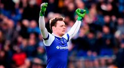 Rory Beggan of Monaghan celebrates his side's victory following the Allianz Football League Division 1 Round 7 match between Dublin and Monaghan at Croke Park in Dublin. Photo by Stephen McCarthy/Sportsfile