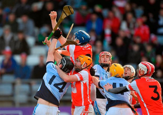 Seán Moran of Cuala gathers possession. Photo: Piaras Ó Mídheach/Sportsfile