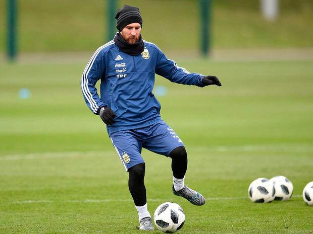 Lionel Messi must elevate his game even further if he is to emulate Diego Maradona and deliver a World Cup for Argentina. Photo: Oli Scarff/AFP/Getty Images