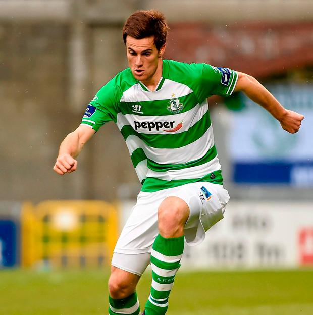 David O'Connor playing for Shamrock Rovers. Photo: Paul Mohan / Sportsfile
