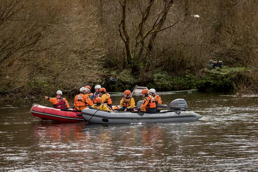 The search for Elisha Gault in the River Suir. Photo: Dylan Vaughan