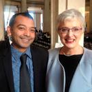 Mayvine Gurriah and Children's Minister Katherine Zappone
