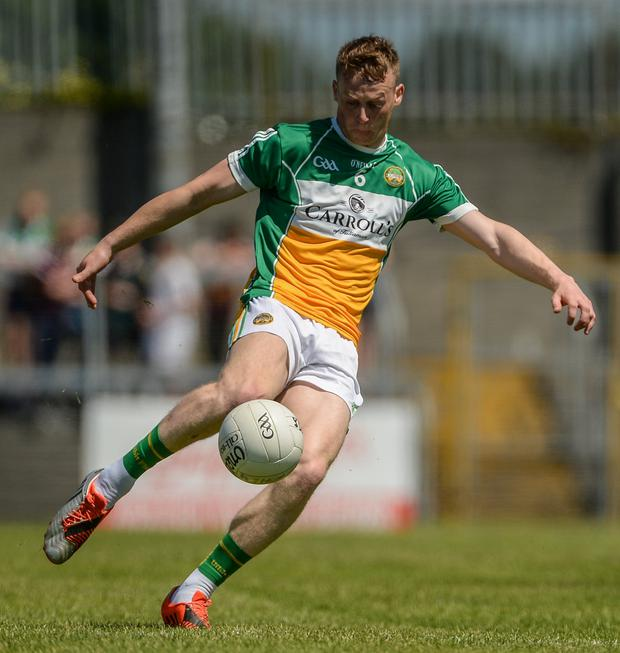 Offaly midfielder Peter Cunningham scored a great solo goal in the 17th minute. Photo: Piaras Ó Mídheach/Sportsfile