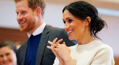 Prince Harry and Meghan Markle visit Catalyst Inc science park in Belfast, Northern Ireland March 23, 2018. Niall Carson/Pool via REUTERS