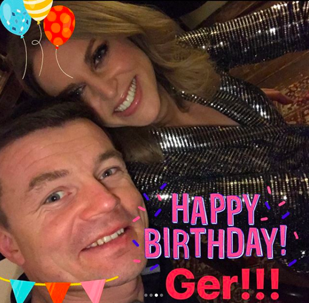 Amy Huberman and Brian O'Driscoll. Picture: Instagram