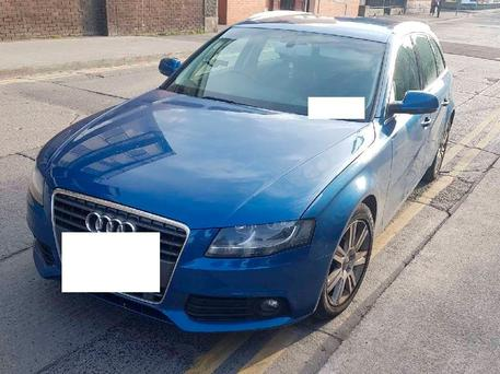 An Audi A4 was seized in the raid by the CAB in Dublin