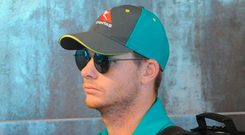 Australia's Steve Smith arriving at Cape Town's International Airport yesterday. Photo: Getty Images