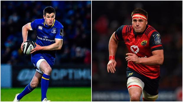 Johnny Sexton (left) and CJ Stander (right).