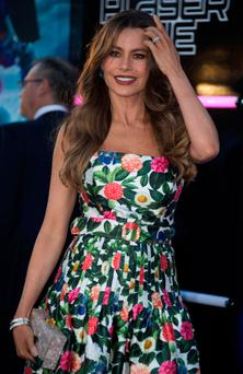 Actress Sofia Vergara turned heads with her strapless floral dress at the world première of Steven Spielberg's adaptation of Ernest Cline's futuristic novel 'Ready Player One' in Hollywood. Photo: Getty Images