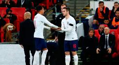 LONDON, ENGLAND - MARCH 27: Lewis Cook of England makes his debut as he substitutes Jesse Lingard during the International Friendly match between England and Italy at Wembley Stadium on March 27, 2018 in London, England. (Photo by Catherine Ivill/Getty Images)