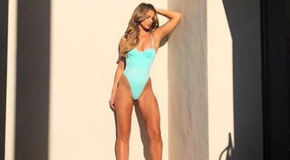 Vogue Williams in her last swimwear shoot during her pregnancy. Picture: Instagram