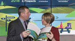 Pictured are Tara McCarthy, CEO of Bord Bia, and Minister for Agriculture, Food and the Marine, Mr. Michael Creed TD.