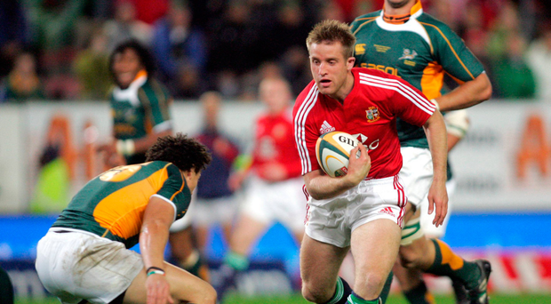 23 June 2009; Luke Fitzgerald, British and Irish Lions, breaks towards Zane Kirchner, Emerging Springboks. Emerging Springboks v British and Irish Lions, Newlands Stadium, Cape Town, South Africa. Picture credit: Andrew Fosker / SPORTSFILE