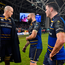 16 December 2017; Leinster players, from left, Devin Toner, Scott Fardy and James Ryan after the European Rugby Champions Cup Pool 3 Round 4 match between Leinster and Exeter Chiefs at the Aviva Stadium in Dublin. Photo by Brendan Moran/Sportsfile