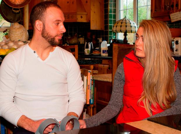 Davitt Walsh and former girlfriend Stephanie Knox
