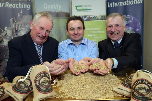 Richard Kennedy, Deputy President of the IFA, Peter Nallen, Group Chief Operations Officer at Boortmalt, Professor Gerry Boyle, Director of Teagasc