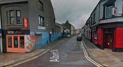 A blade was held to a man's throat during an armed robbery yesterday Photo: Google Maps