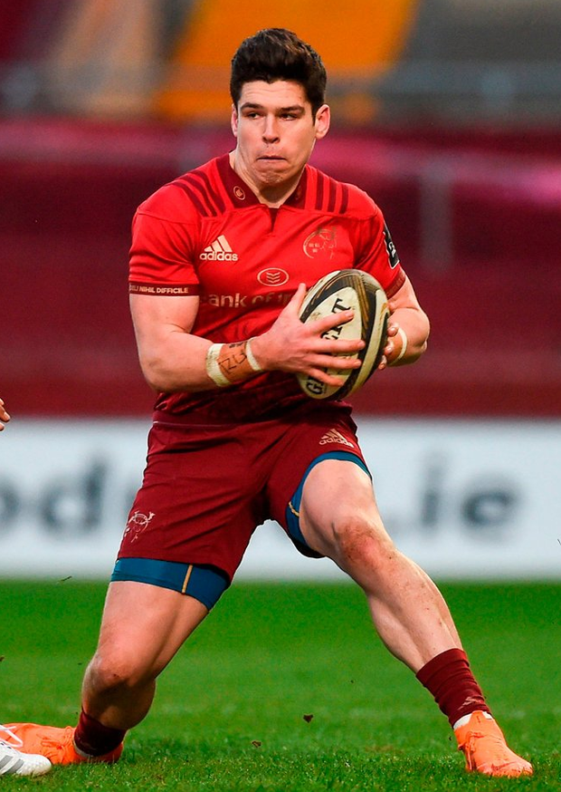 Alex Wootton faces his third Champions Cup start of the season if he is named on the wing for Munster. Photo by Diarmuid Greene/Sportsfile