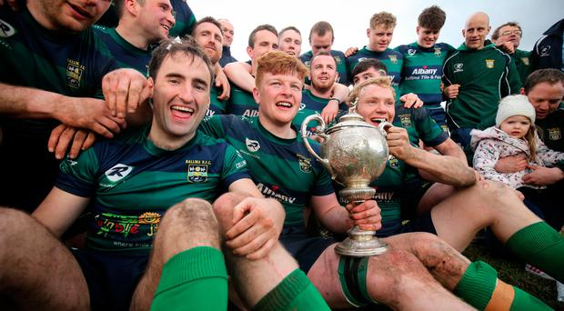 Ballina after their Junior Cup win. Photo: INPHO/Oisin Keniry