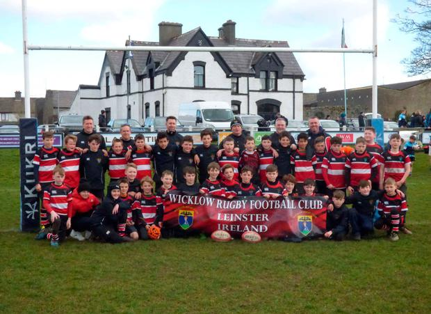 Wicklow RFC's U-12 team marked the end of their mini-rugby days with a tour of Connacht