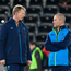 Leinster head coach Leo Cullen, left, and senior coach Stuart Lancaster